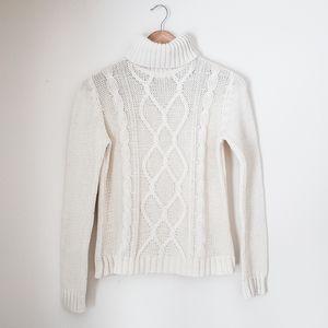 soft cable knit turtleneck